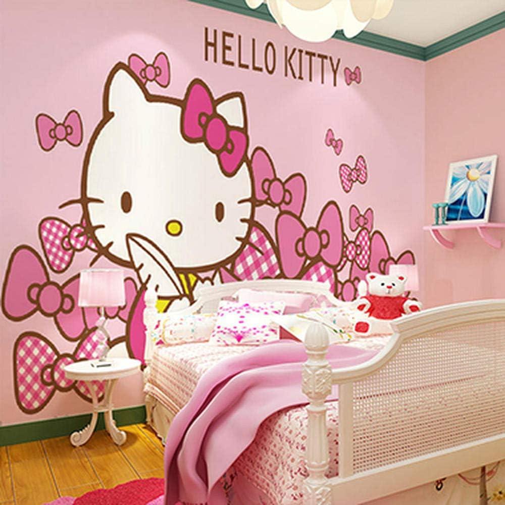 Pink Cartoon Hello Kitty Cat Kinderzimmer Wallpaper Wallpaper Prinzessin Mädchen Schlafzimmer Hintergrund Fototapete250cm 170cm Baumarkt