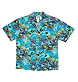 Sky KY´s Original Camisa Hawaiana, Aquarium Beam, Turquoise 3XL