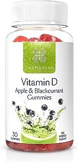 Healthspan Vitamin D Apple & Blackcurrant Gummies   30 Gummies   Vitamin D3   Boosts Immunity   Supports Bones & Muscles  ...