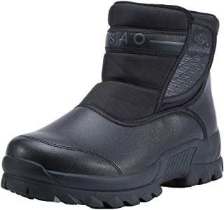 XLH Hommes Hiver Bottes décontractées Fourrure Artificielle maintienne Chaude Chaussures Hommes Bottes de Neige en Plein air