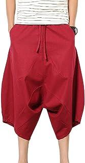 Wxian Men's Low Crotch Loose Pants