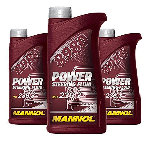 MANNOL 3 x 500ml 8980 Power Steering Fluid/Seroöl 236.3 ZF Gelb/Braun