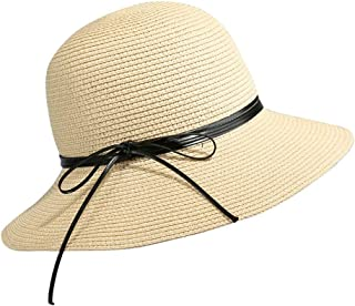 2019 Womens Hats Caps Women Travel Hat Large Side Cap Straw Hat Spring-Summer Outdoor Beach Sunscreen Sunhat (Color : Beige, Size : M)