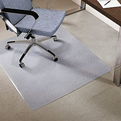 Antaprcis Clear PVC Office Chair Mat , Home /Office /Computer Chair Mats,Studded Back with Lip for Standard Pile Carpet