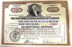 New York Central Railroad Stock(s)!! Buy 2 Get THREE Different Colors!