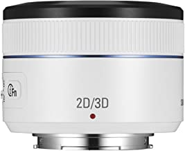 Samsung NX 45mm f/1.8 2D/3D Camera Lens (White)