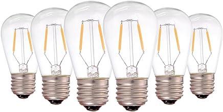 Genixgreen Bombilla LED de filamento vintage ST45 1W E27 luz blanca cálida 2200K impermeable 10W bombilla