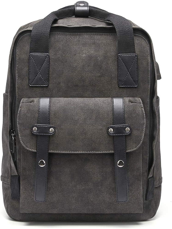 Xiao Jian USB Charging MultiFunction Backpack Laptop Large Capacity Outdoor Travel Leisure Backpack Waterproof WearResistant Breathable Work Backpack Men and Women Models