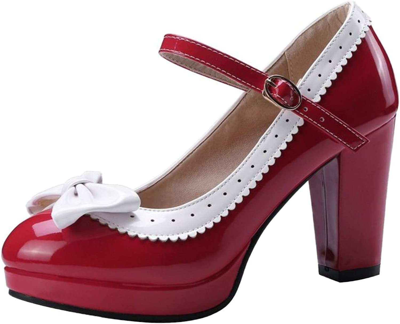VulusValas Women Block Heel Court shoes
