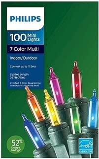 PHILIPS Indoor/Outdoor 100 Multi Mini Lights 7 Colors Energy Efficient