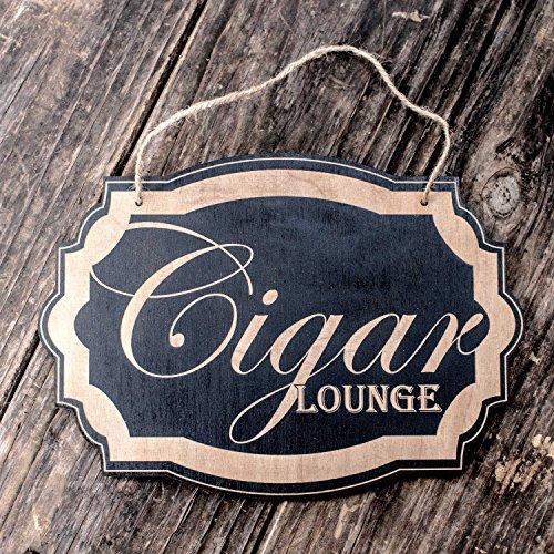 Cigar Lounge - Black Door Sign