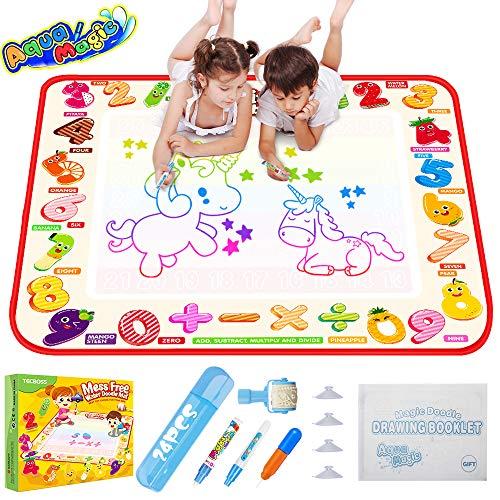 TECBOSS Water Drawing Mat, Kids Aqua Magic Doodle Mat Toys, Large Mess...