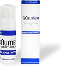 Numbing Foam Soap 4% Lidocaine Topical Anesthetic - Tattoo Numbing Spray Disinfecting & Desensitizing for Painless Waxing/Dermarolling/Microblading/Tattoo Removal/Piercing/Minor Cuts/Burns/Wounds
