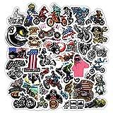LVLUO Pegatinas de Graffiti de Personajes de Motocicleta Pegatinas de Skate de Equipaje extraíbles Impermeables Pegatinas 50