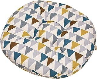 Milnut - Almohadillas de asiento acolchadas redondas para sillas de comedor, sillas de paseo, cojín de estilo étnico – 40 x 40 x 8 cm A 40*40*8CM