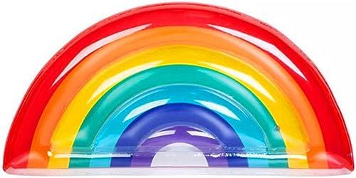 CHENGYI Schwimmendes Bett, Aufblasbare PVC-Regenbogen-sich hin- und herbewegende Reihen-Befestigungen, Swimmingpool-Aufblasbares Spielzeug-Erwachsener u. Kind-sich hin- und herbewegender Bett-Wasser-E