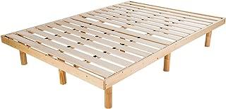 OSJ 脚付きベッド 三段階高さ調整可 シングルベッド セミダブルベッド ダブルベッド ベッドフレーム すのこベッド 天然木製収納耐荷重200kg 三色三サイズ (ナチュラル, シングル)