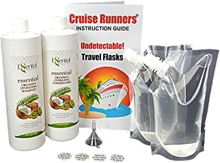 Fake Shampoo & Conditioner Bottles Alcohol Flask Kit By CRUISE RUNNERS | Sneak Smuggle Hidden Liquor Booze On Cruises | Enjoy Rum Runners