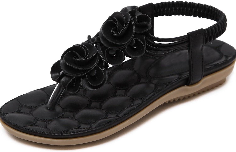 Women Women Sandals Bohemia Flowers Flat Toe Plus Size Fashion Indoor & Outdoor Non-Slip Bathrobes Slippers XIAOQI