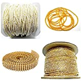 Asian Hobby Crafts Jewellery Making Chains and Stone Lace Combo Set - Pack