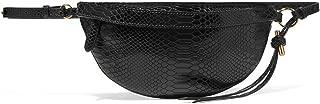 Fashion Handbags Solid Color Python Pattern Shoulder Strap Belt Bag ZB854