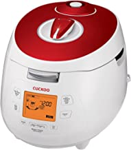 Cuckoo CRP-M1059F Pressure Rice Cooker, 11.40 x 11.60 x 15.60 inches, Red