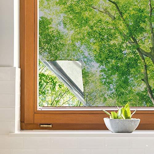 iTrunk窓マジックミラーフィルム断熱シート窓用ガラスフィルム目隠しシート60*200cm窓ガラス外から見えない水で貼る無接着剤はかせる省エネuvカット飛散防止(60cm*200cm)
