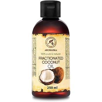 Aceite de Coco Fraccionado 250ml - 100% Puros y Aceites de Coco Naturales - Aceite Base - Inodoro - Tratamiento Facial Intensivo - Cuidado del Cuerpo - Piel - Cabello - Aceite de Masaje: Amazon.es: Salud y cuidado personal
