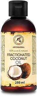 Aceite de Coco Fraccionado 250ml - 100% Puros y Aceites de Coco Naturales - Aceite Base - Inodoro - Tratamiento Facial Int...