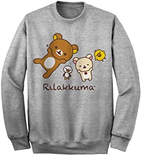 Rilakkuma nap time sports gray unisex tee sweatshirt