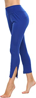 Ekouaer Womens Patchwork Quick Dry Yoga Leggings Sports Capris Pants Running Tights