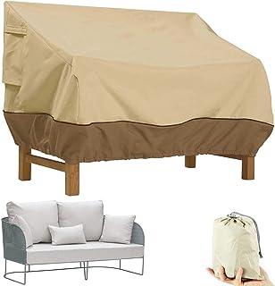 IE Patio Veranda Sofa Loveseat Cover, Patio Deep Seat Sofa Cover, Deep Seat Cover Outdoor Bench Lounger Chair Cover Heavy ...