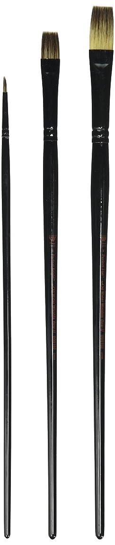 Weber 3-Piece Donna Dewberry Woil Brush Set, Includes No.8 Flat, No.6 Bright and No.0 Round