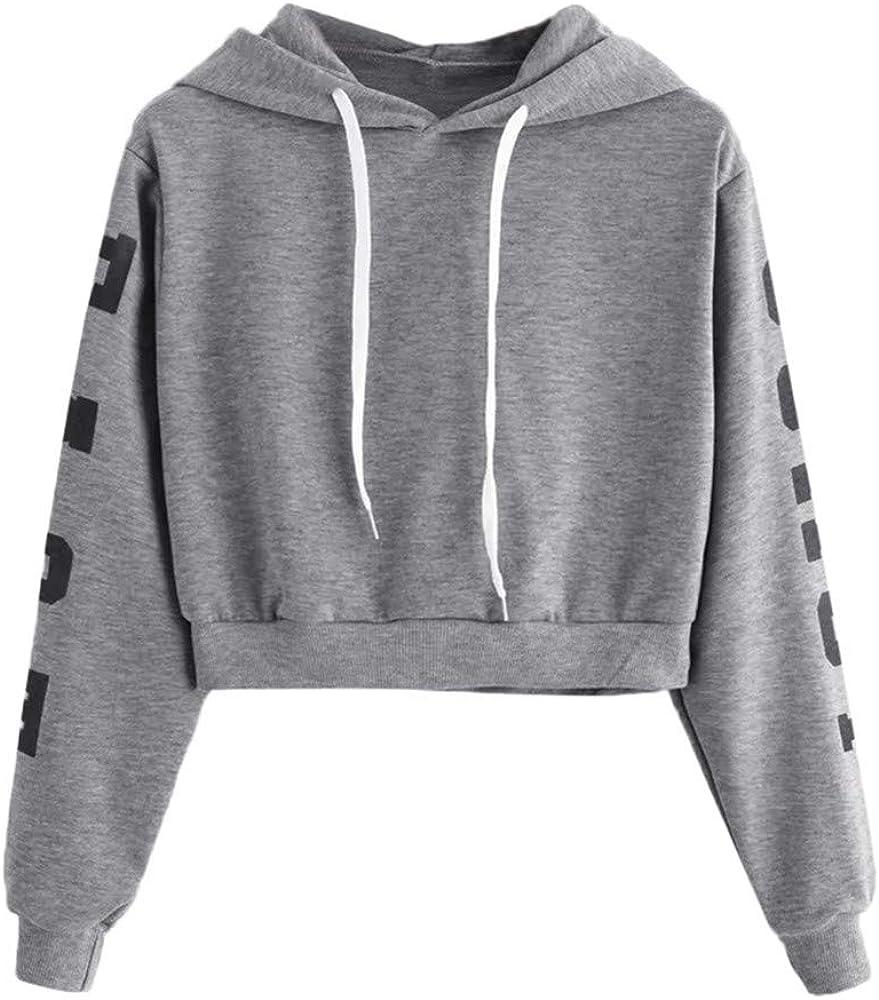 Womens Cute Hoodies, Womens Cute Graphic Long Sleeve Hoodie and Sweatshirt Casual Crewneck Loose Pullover Tops