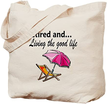 CafePress - RETIREMENT - Natural Canvas Tote Bag, Cloth Shopping Bag