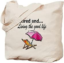 CafePress RETIREMENT Natural Canvas Tote Bag, Reusable Shopping Bag