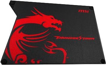 MSI Thunderstorm Aluminium Gaming Mouse Pad, Black, (PAD-MSI-TSAMP)
