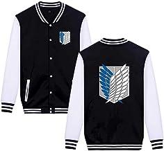 Memory meteor Anime Cosplay Attack on Titan Costume Sportwear Sweater Cool Jacket Hoodie Unisex Cotton Blend Long Sleevee Coats,Negro,XXL