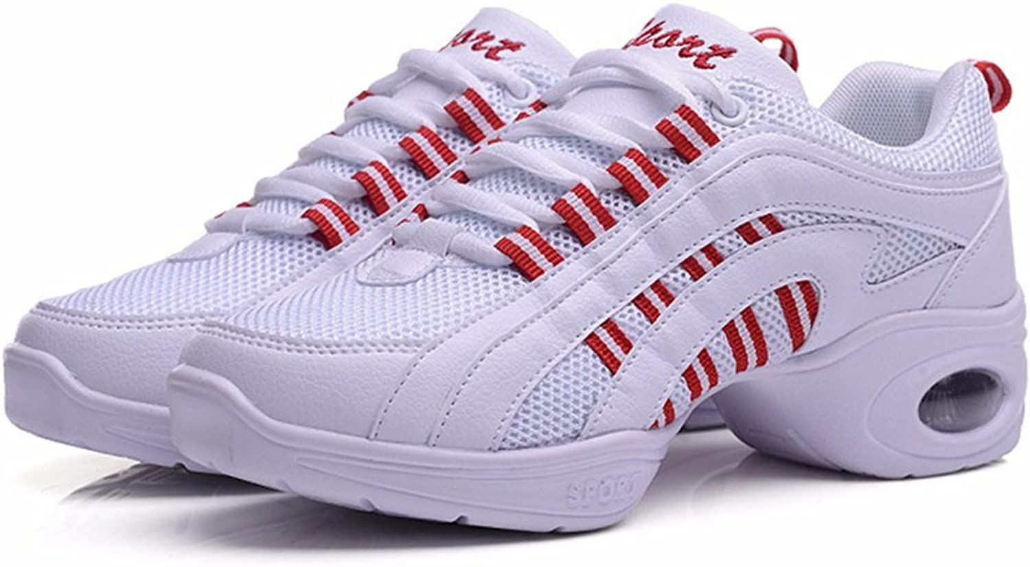 Exing Womens's shoes New Modern Dance shoes,Casual Sneakers,Gym Sports Air-Cushion shoes,Ladies Invisible Increase shoes