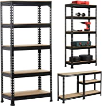 Yaheetech Heavy Duty 5-Tier Garage Shelves Kitchen Heavy Pots Pans Storage Shelving Rack 70x30x150CM