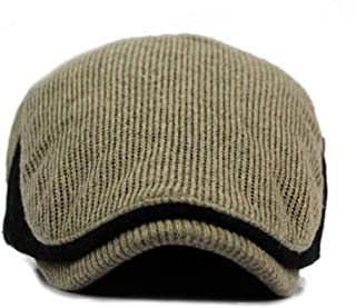 2018,Winter Men Color Block Vintage Ajustable Gatsby Peaked Cap Newsboy Beret Hat,Men's Novelty Shirts