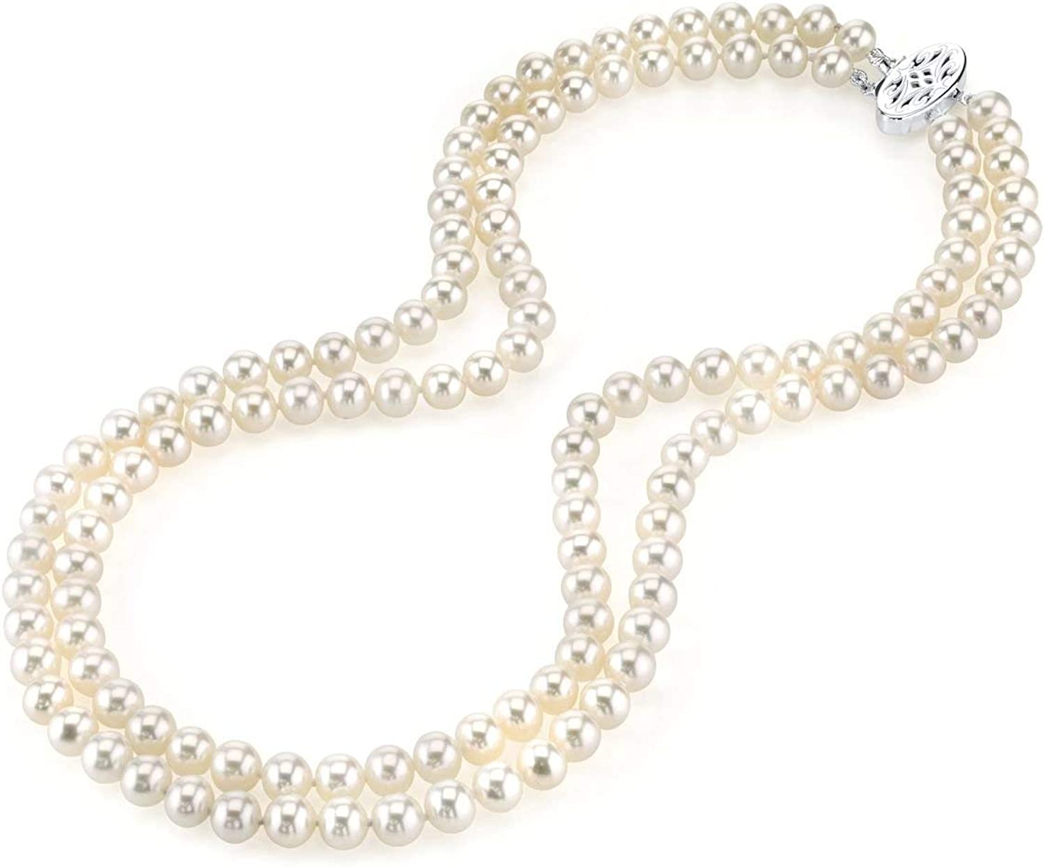 Double Popular shop is the lowest price challenge Classic Strand White Freshwater Cultured for Necklace Women Pearl