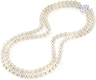 Best double string pearl necklace Reviews