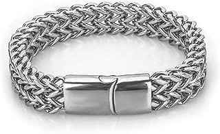 New Fashion Kingdom 18K Gold Plated Cuban Link Bracelet Hip Hop Bracelet Stainless Steel Bracelet for Men