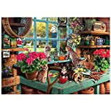 Cat and Gardening counted cross stitch kits 14 ct,猫とガーデニング ピーターラビット 65x82cm 300x400クロスステッチ