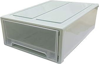 Stapelbare doos kist plastic transparante lade eenheid organisator kledingkast badkamer opbergdozen stapelen