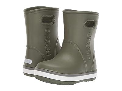 Crocs Kids Crocband Rain Boot (Toddler/Little Kid) (Army Green/Slate Grey) Kid