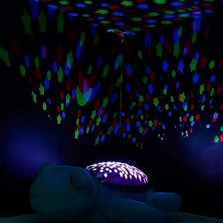 Lorenlli Ni/ños Animales Juguetes de peluche Sue/ño m/ágico Estrella estrellada L/ámpara de proyecci/ón Mu/ñecos de luz Juguetes Proyector con m/úsica para dormir beb/é
