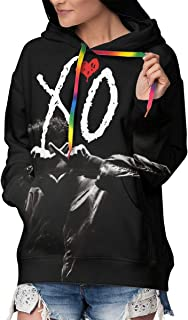 Womens XO The Weeknd Heart Novelty Hoodie 3D Digital Print Seatshirts Pockets Pullover