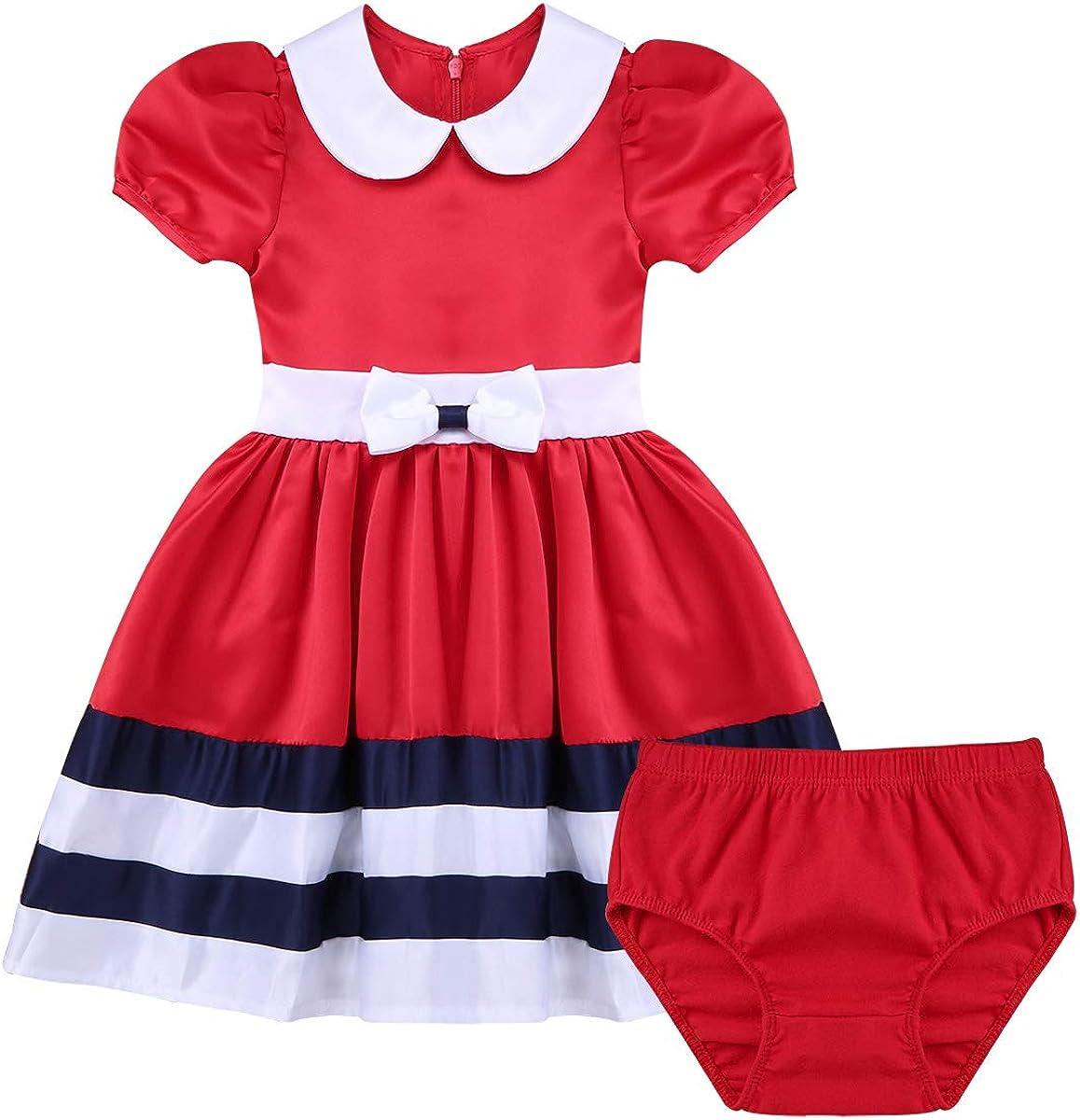 Superlatite Freebily Popular brand in the world Baby Doll Collar Nautical Dress 1st Birthday Party